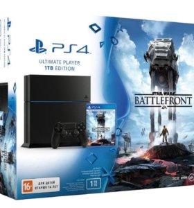 Sony PlayStation 4 Battelefront, + 1джойстик