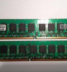 Оперативная память Kingston DDR2-800 Kit 2x1Gb