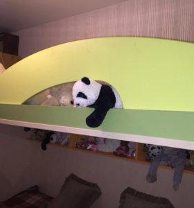 Детская двухъярусная кровать Миа+лестница+стол