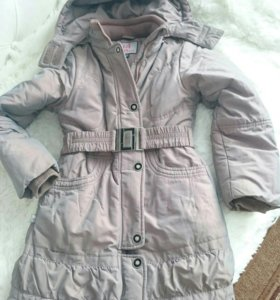 Тёплое пальто на девочку.