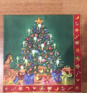 Салфетка для декупажа новогодняя