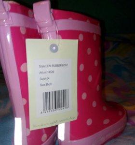 Финские резиновые сапоги новые