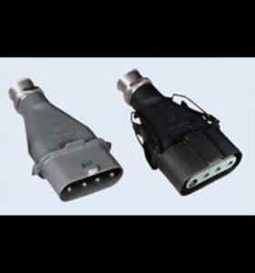 Комплект вилка+розетка кабельная ШК 4*25 25А