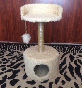 Домик для кошки ,когтеточка 100%шерсть
