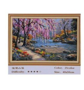 Картина по номерам без деревянной рамки 40х50