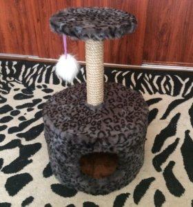 Домик для кошки ,когтеточка .иск.мех