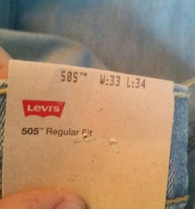 Джинсы Levis 505 W33 L34