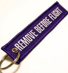Брелок Remove before flight (синий)