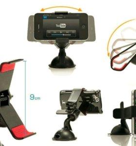 Крепеж для смартфона на присоске (carmount)