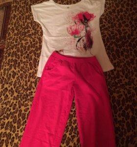 Домашний костюм(брюки+футболка)