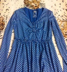 Блуза в горошек, H&J, Испания
