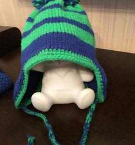 Комплект шапка+шарф ручная работа
