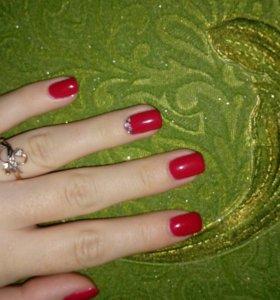 Наращивание ногтей, покрытие гелем