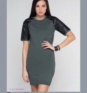 Платье Veromoda кожаные рукава