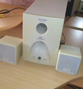 Колонки и сабвуфер Microlab