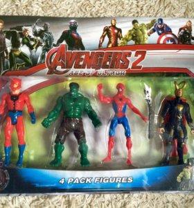 Супергерои мстители 4шт