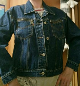 Куртка ветровка джинсовая 46р-р