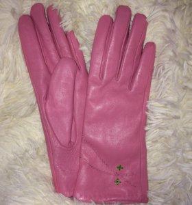 Перчатки кожаные😋💗