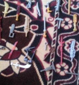 Лего оружия,инструменты