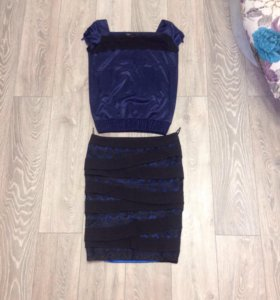 Костюм ( юбка и блузка)