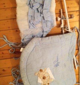 Балдахин и бортики для кроватки