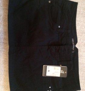 Юбка terranova новая черная джинсовая мини s