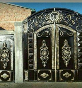 Кованные ворота.художественная ковка