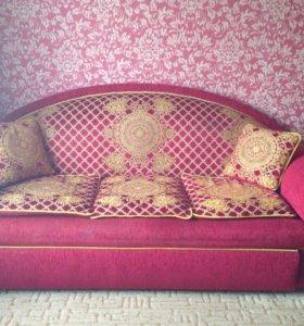 Раскладной диван с креслом