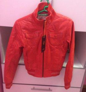 Новая!!!Кожаная куртка.Возможен торг!!!