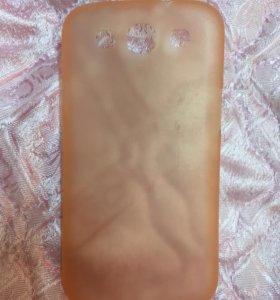 Пластмассовое силиконовый чехол для Samsung 3