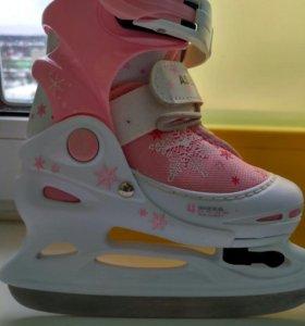 Коньки для девочки раздвижные ледовые Ase-sport