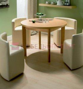 Стол с банкетками 1000х1000