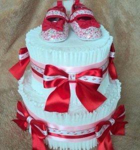 Торт из подгузников (памперсов)