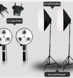 Softbox, кранштейн, светоотражатель для фотостудии