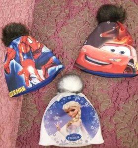 Новые шапки с мультяшками