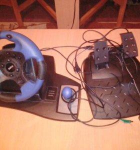 Игровой руль Dialog с обратной связью, для пк.