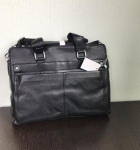 Портфель сумка натуральная кожа Calvin Armani