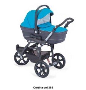 Новая коляска 2в1 CAM Cortina 368 голубой