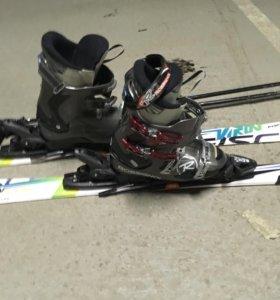Горные лыжи палки ботинки