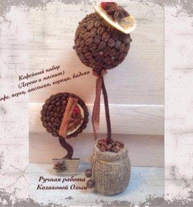 Кофейный набор ( дерево и магнит )
