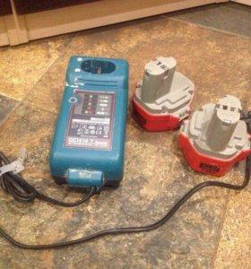 Аккумулятор и зарядное от шуруповёрта makita