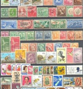 Подборка марок Новая Зеландия