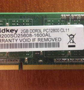 Оперативная память 2GB DDR3L PC12800
