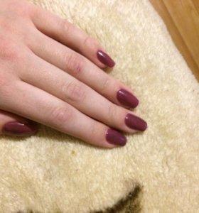 Наращивание ногтей Гель-лак