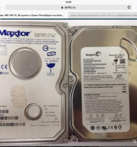 Жесткий диск Seagate, WD 160, 80 gb
