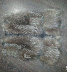 Меховая жилетка.чернобурка