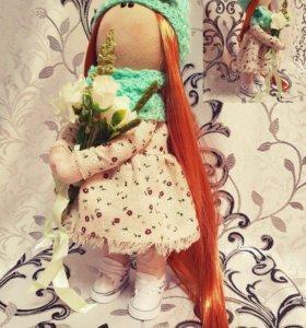 Текстильная интерьерная кукла Полина ручной работы