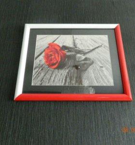 Вышивка крестом роза