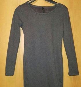 Платье-туника утепленое