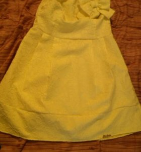 Платье летнее ярко желтое новое